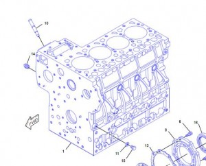 383-0488 CYLINDER BLOCK AS